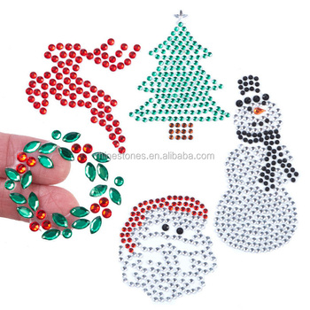 0109W China wholesale Funny Christmas iron on transfer, low price iron on rhinestone transfer