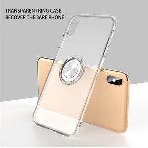 2019 new tpu magnetic magnet ring holder phone case for iphone6 iphone7 iphone8 iphonex