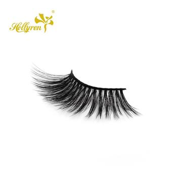 Hollyren wholesale 25mm long length eyelash with super soft fiber, extremely fluffy feeling