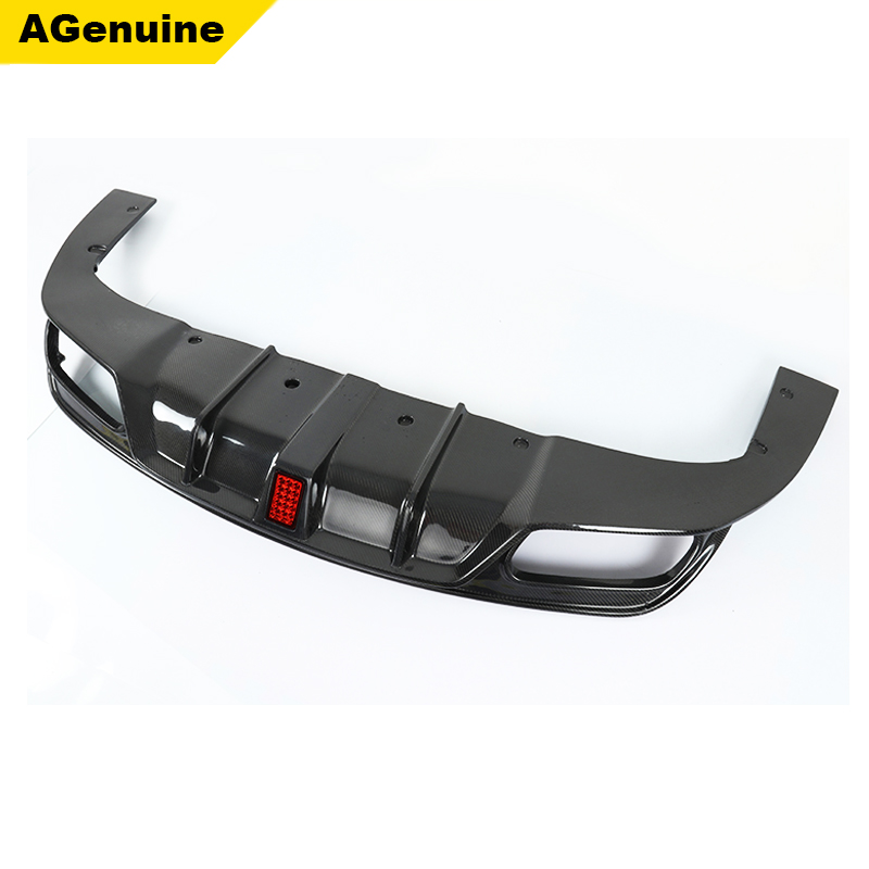 Carbon fiber car parts LED flash lights rear bumper lip rear diffuser for mercedes benz CLA <strong>W117</strong>
