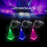 Party Favor Event Party Item Type Heart LED Flashing Necklace Christmas Holiday Party Lights LED Christmas Light Necklace