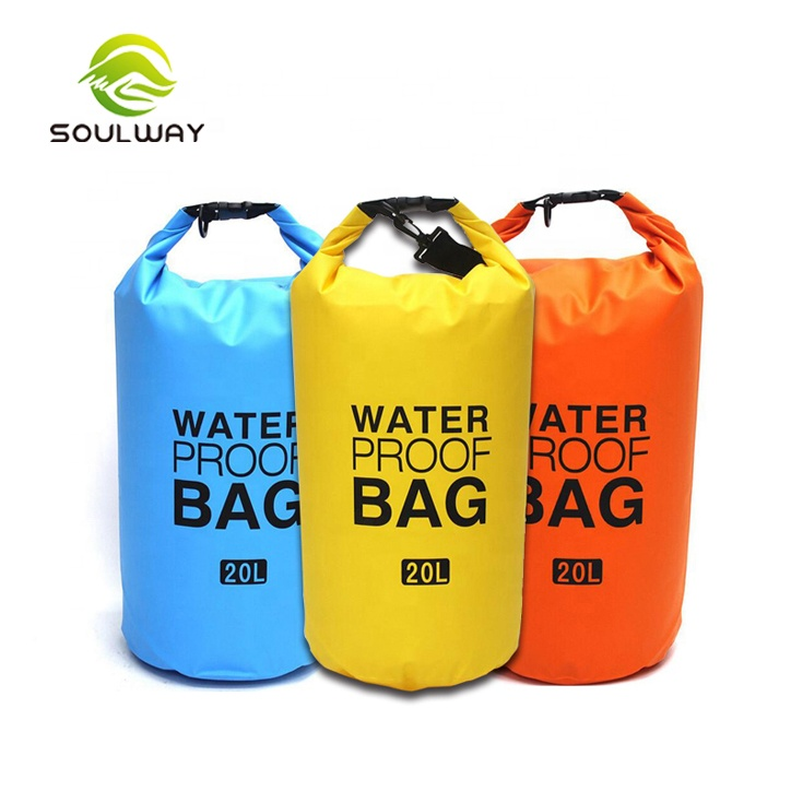 Fashion 15L colorfully 500D PVC high quality outdoor waterproof ocean pack dry bag