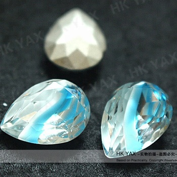 S0803 charming pointback teardrop glass beads china supplier