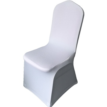 white Cheap spandex banquet hall chair cover