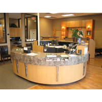 Polished Backlit Superior stain resistance multiplex acrylic led reception desk discount