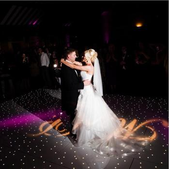 Ad hot selling remote control wedding white led dance floor