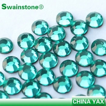 Sylvia0802 SS16 4MM SS20 5MM  Aquamarine band hotfix rhinestone;shiny rhinestone for clothing;wholesale cheap hot fix rhinestone