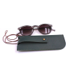 Wholesale Cheap sunglass pouch with eyeglass case box pouch Leather Glasses Pouch