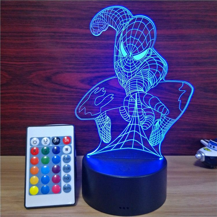 Illusion 3D Night Lamp ABS Base USB Night Lamp Remote Control 3D Night <strong>Light</strong>