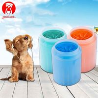 Dog Paw Cleaner Soft Silicone Pet Foot Washer Cup Gentle Bristles C Paw Clean Brush Quickly Clean Paws Dog Foot Wash Tool