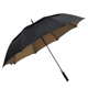 Big size double layer black golf umbrella with logo printing