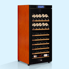 Factory Direct Offer Raching 80 Bottles Computer intelligent temperature control Solid Wooden Wine cooler fridge Cabinet