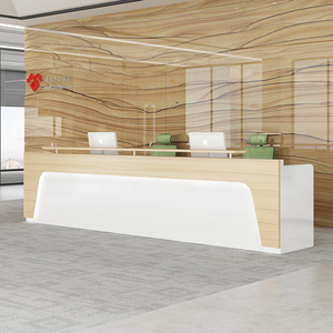 Modern Office Small Reception Desk Salon Reception Desk White Reception Desk