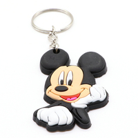 Key Chains Wholesale Custom 3d Cute Cartoon Logo Key Tag Soft Pvc Rubber Keychain For Promotion Gift