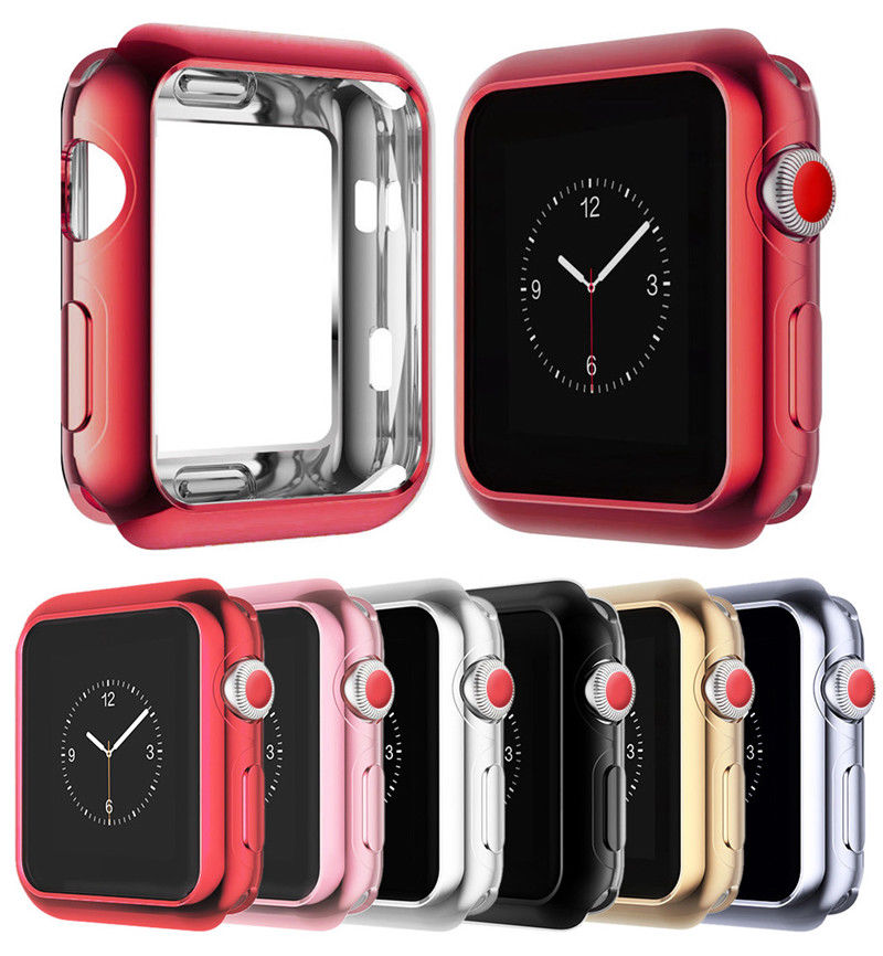 For Apple Watch iWatch Series 4 3 2 <strong>1</strong> 38/42mm 40/44m Slim Soft TPU Protect Case