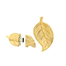 HOT wood leaf pen 64GB usb <strong>flash</strong> drive 8GB 16GB 32GB 4gb pendrive Memory Stick pendrives u disk bamboo