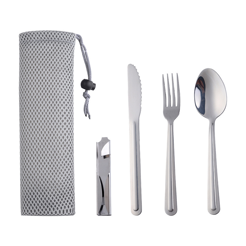 Picnic Travel Camping Cutlery set Stainless steel 3 in <strong>1</strong>