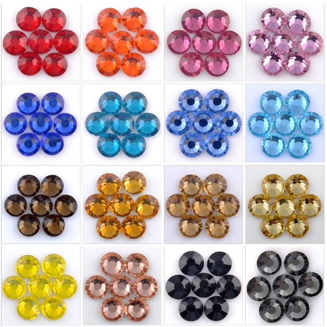 0121W SS6~SS30 Blue zircon flat back crystals non hotfix crystals for nails