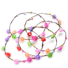 Party crown flower headband flower festival wedding bride garland wreath <strong>hair</strong> band headband