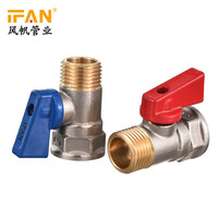 chrome plated yellow handle ball valve for control flow water