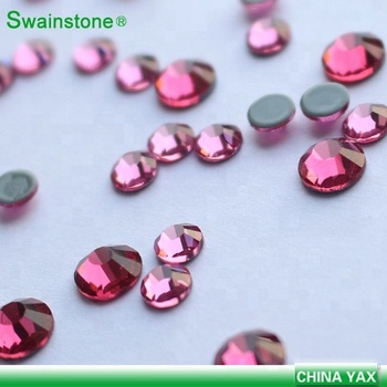 S0815 flatback ss12 Rose rhinestone for nail art, non hot fix rhinestone nail art accessories,flat back non hot fix rhinestones