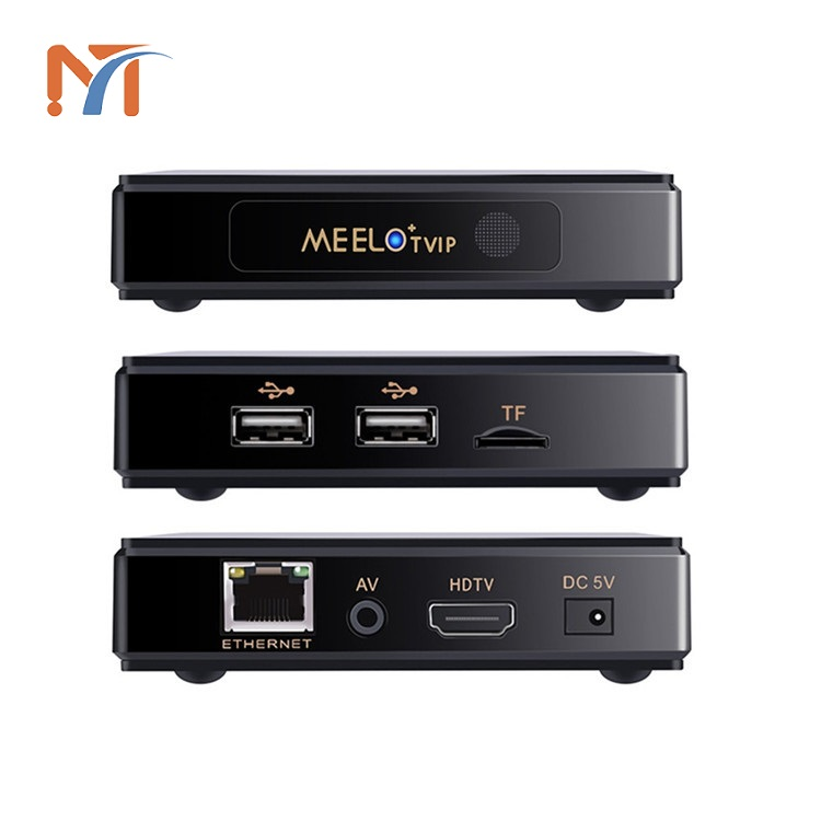 Top sell MEELO TVIP 4K TV box Linux system amlogic s805 iptv 512MB 4G set top box satellite receiver