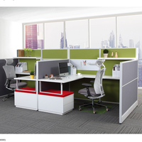 Commercial 4 Seat Cubicle Desk Modern Table Modular Office Workstation Cabinet Office Furniture