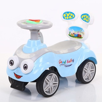 China factory fashion design cheap price baby swing car with music & light
