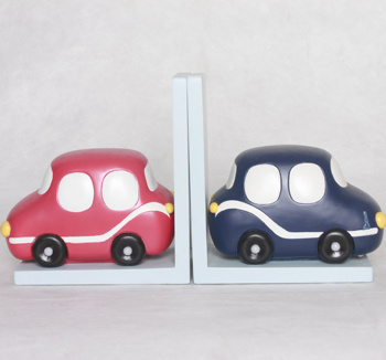 Hot Sale Personalized Handmade Polyresin Cartoon car Bookends