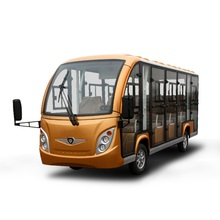 Zero emission 14 passengers electric sightseeing car with enclosed hard door