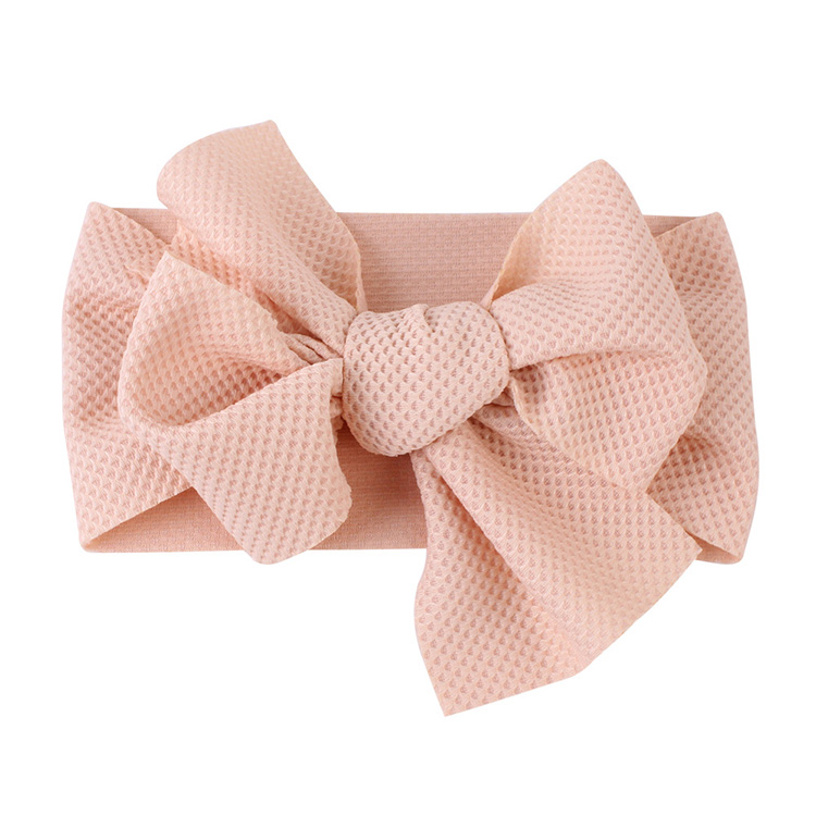 Fashion Elastic Baby accessories Big Bow cute Girl Headband