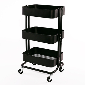 Supply 3 Tier Steel Metal Kitchen Storage Trolley Cart