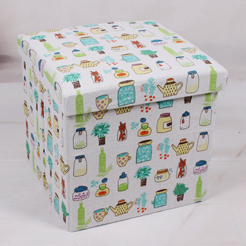 2019 Personalized  Printed  Animals Cute Foldable Storage Ottoman Stool