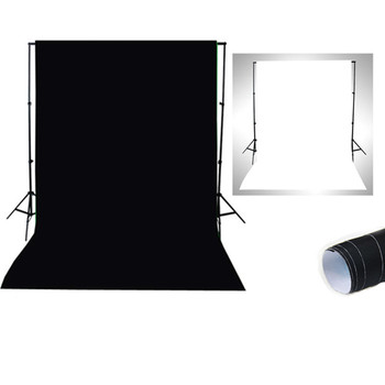 Direct manufactures 2M*2M double color  photography background cloth about black and white non-woven backdrop cloth