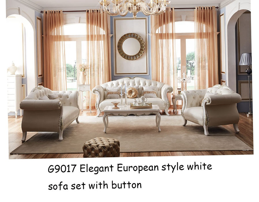Gold Leafs Curved Sofa Luxury White Sofa Supplier Italy Classic Design  Leather Sofa Set Living Room Furniture - Buy Gold Leafs Curved Sofa Leather  ...