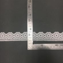 2019 New style Swiss <strong>embroidery</strong> cotton <strong>lace</strong> 3 cm , voile <strong>lace</strong> trimming, mesh <strong>lace</strong> trimming ST209