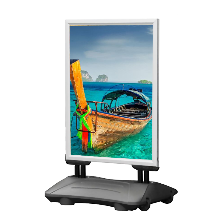 High quality waterproof size A1 <strong>A0</strong> sidewalk wind sign poster stand outdoor <strong>display</strong>