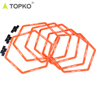 TOPKO wholesale private label gym sport fitness equipment soccer free speed training eco PP nylon Agile ladders
