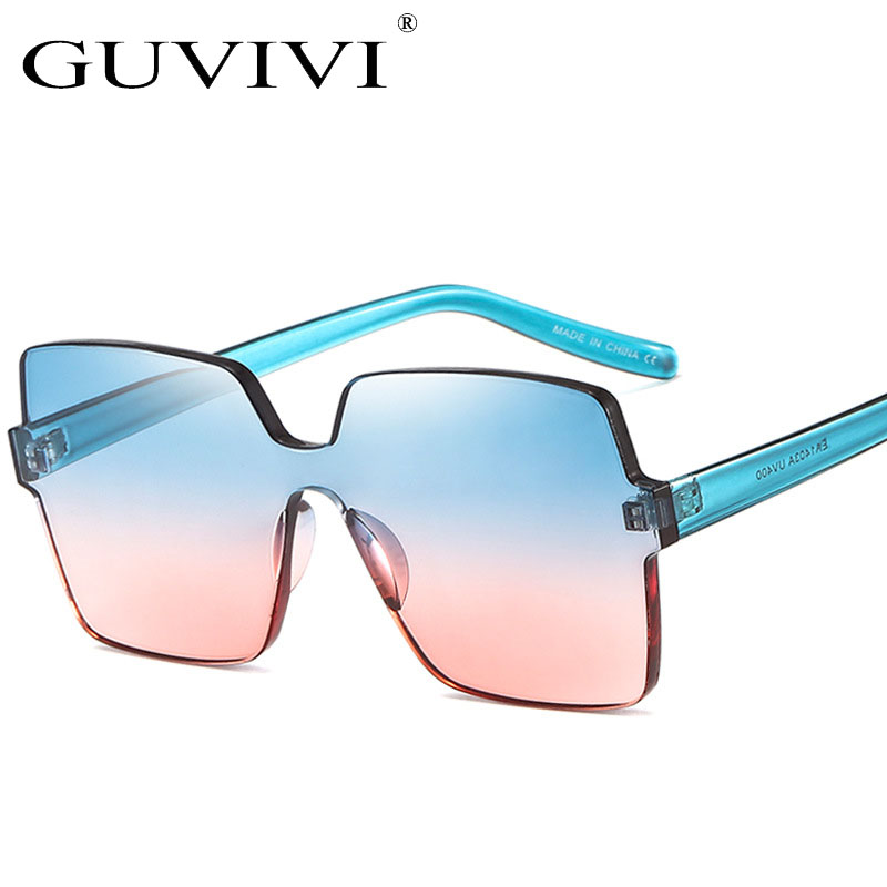 GUVIVI Wholesale sunglasses <strong>china</strong> one piece lenses colorful Plastic Shades sunglasses