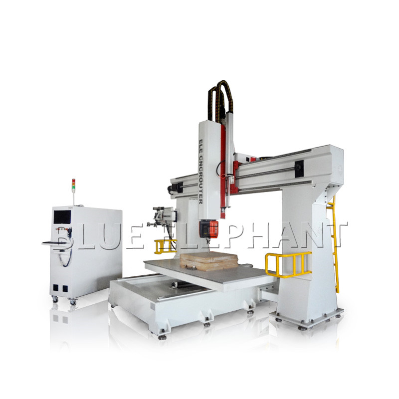 ELE1224 5-axis cnc machine for wood processing and aluminum
