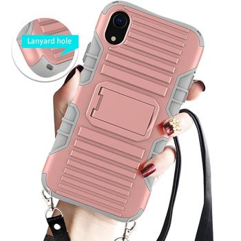 Necklace Case For iPhone XR With Lanyard Body Cross Shoulder Belt Case For iPhone Xr