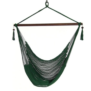 HR green rope hammock chair outdoor hanging swing chair for garden