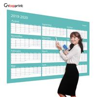 Large Wall Planning Calendar Glossy Lamination Custom