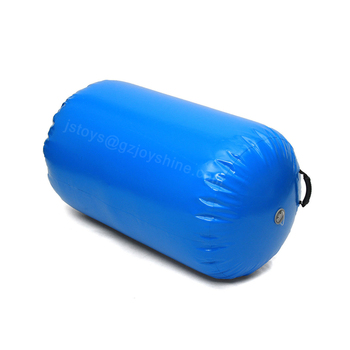 Gymnastics Training Airtrack Mat 1.5m Blue Inflatable Air Barrel Air Track Roller For Home Edition