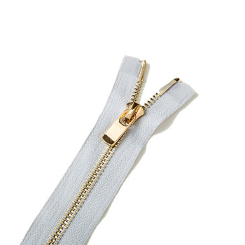 high quality 5# white Metal Zipper corn teeth of Bright light gold 2 way open end