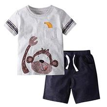 Wholesale Custom Summer Clothing Cute Kids Wear Newest Design <strong>Children</strong> Clothes Boy <strong>Set</strong>