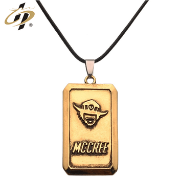 Wholesale Fashion Professional custom zinc alloy ancient gold double-sided logo metal dog tag keychain with chain