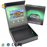 Customized Promotion HD 7inch Screen Video Brcohure Video Card LCD Screen Gift Box