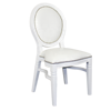 Party Wedding Hall Used White Hotel Banquet Lobby Dining Royal Round Back Stackable Designer Chair