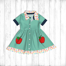 Back To School Bookworm Kids Girl Clothing Cotton <strong>Girl's</strong> <strong>Dress</strong> In 2019 Summer Wholesale Market New Design
